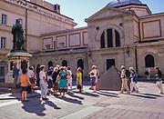 Swan Hellenic tour group visiting Museum Foch, Palais Fesch, Ajaccio, Corsica, France in 1998