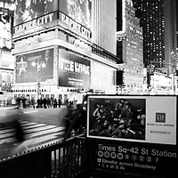 Night scene at Times Square, NY