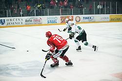 PEM Nik during Alps League Ice Hockey match between HK SZ Olimpija and HDD SIJ Jesenice, on February 12, 2019 in Ice Arena Podmezakla, Jesenice, Slovenia. Photo by Peter Podobnik / Sportida