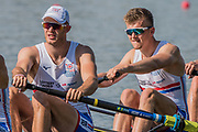 Plovdiv BULGARIA. 2017 FISA. Rowing World U23 Championships. <br /> GBR BM4-, Right, DIGBY, Thomas and  ELWES, Charles.<br /> Wednesday. PM,  Heats 17:27:43  Wednesday  19.07.17   <br /> <br /> [Mandatory Credit. Peter SPURRIER/Intersport Images].