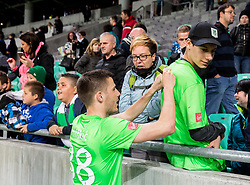 Danijel Miskic of NK Olimpija with fans after the football match between NK Olimpija and NK Maribor in Round #31 of Prva liga Telekom Slovenije 2016/17, on April 29, 2017 in SRC Stozice, Ljubljana, Slovenia. Photo by Vid Ponikvar / Sportida