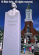 Town Center, Christopher Columbus Statue, Church, Carbondale, NE PA