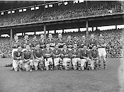 Neg No:.558/7546-7649..1081954AISFCSF..01.08.1954, 08.01.1954, 1st August 1954.All Ireland Senior Football Championship - Semi-Final.Meath.1-5.Cavan.0-7...Meath. .P. McGearty, M. O'Brien, P. O'Brien, K. McConnell, K. Lenehan, J. Reilly, E. Durnin, P. Connell, T. O'Brien, M. Grace, B. Smyth, M. McDonnell, P. Meegan, T. Moriarty, P. McDermott. (Captain)