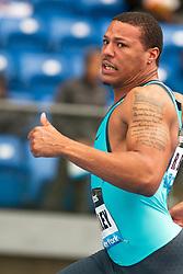 adidas Grand Prix Diamond League professional track & field meet: mens 100 meters, Ryan Bailey