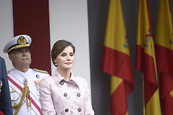 Queen Letizia of Spain attended the Armed Forces Day Homage on May 26, 2018 in Logrono, La Rioja, Spain. Photo by Archie Andrews/ABACAPRESS.COM