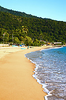 abraao beach in the beautiful island of ilha grande near rio de janeiro in brazil