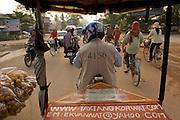 Riding Tuk Tuk through Siem Reap, Cambodia