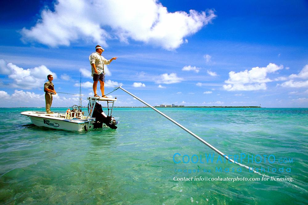 flats fishing for bonefish, Stiltsville, Biscayne National Park, Miami, Florida, USA, Atlantic Ocean, MR
