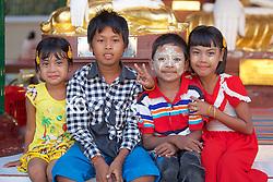 Young Visitors to Shwedagon Pagoda