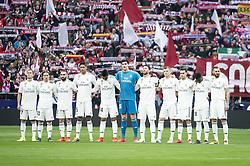 February 9, 2019 - Madrid, Spain - Real Madrid during La Liga match between Atletico de Madrid and Real Madrid at Wanda Metropolitano in Madrid Spain. February 09, 2018. (Credit Image: © Peter Sabok/NurPhoto via ZUMA Press)