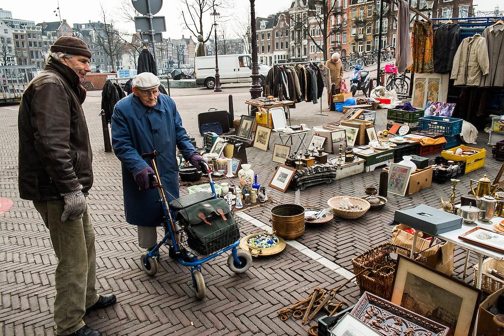 Nederland, Amsterdam, 29 jan 2015 <br /> Waterlooplein. <br /> Foto: Michiel Wijnbergh