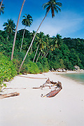 Shipwreck on Perhentian Island beach, Malaysia <br /> <br /> Editions:- Open Edition Print / Stock Image