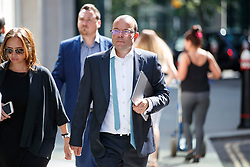 © Licensed to London News Pictures. 05/07/2017. London, UK. Financier JEFF BLUE arrives at the High Court in London on 5 July 2017. Mr Ashley is in dispute with financial expert Jeff Blue over payments promised in relation to the share price of Sports Direct. Photo credit: Tolga Akmen/LNP