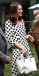 The Duchess of Cambridge visits the Wimbledon Championships at The All England Lawn Tennis and Croquet Club, Wimbledon, in London, UK, on the 3rd July 2017. Picture by Gareth Fuller/WPA-Pool. 03 Jul 2017 Pictured: Catherine, Duchess of Cambridge, Kate Middleton. Photo credit: MEGA TheMegaAgency.com +1 888 505 6342
