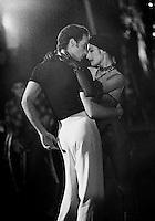 "Monica Zamora and Joseph Cipolla in George Blanchine's ""Slaughter on Tenth Avenue"""