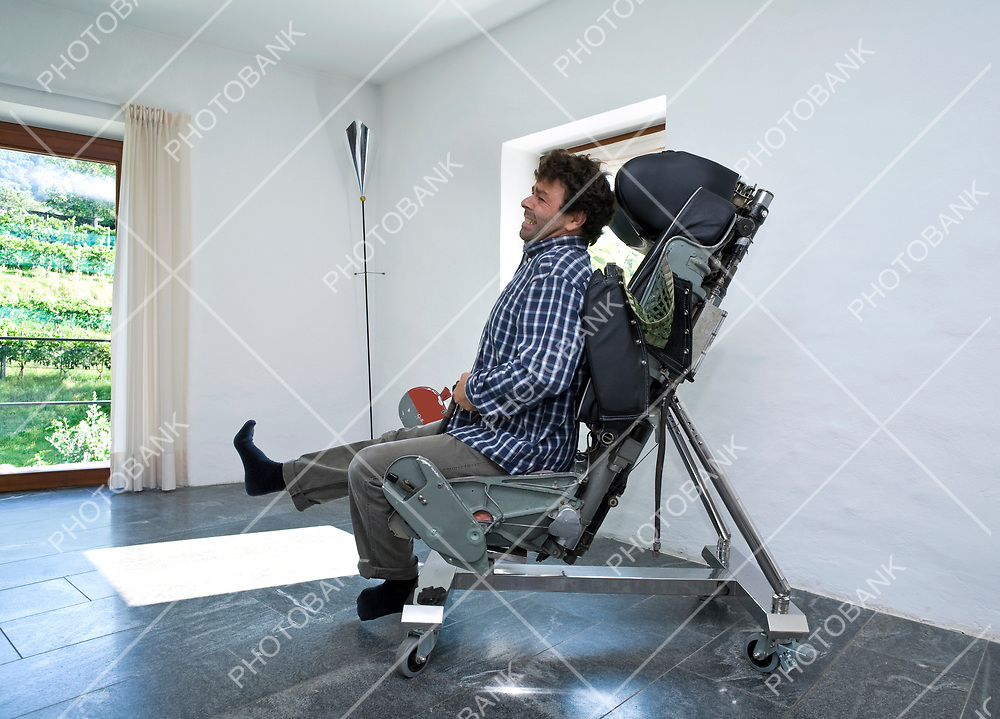 man sitted on a chair
