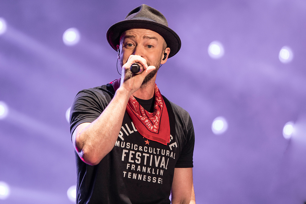 Justin Timberlake performs at the Pilgrimage Festival in Franklin, TN on September 23, 2017.