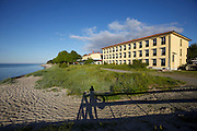 """Ystad. Hotel Saltsjöbad..The trail after the killer in the film """"The Photographer"""" (Sw film) leads Wallander to the hotel. The hotel's spa was partly used to portray the exclusive and luxurious houses of Soldala in the film """"The Castle Ruins"""" (Sw film)."""