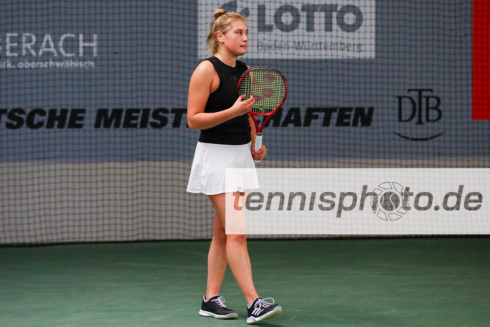 Nastasja Schunk (GER), Deutsche Meisterschaften der Damen und Herren 2020 - Deutscher Tennis Bund e.V. am 12.12.2020 in Biberach (Bezirksstützpunk Biberach (WTB)), Deutschland, Foto: Mathias Schulz