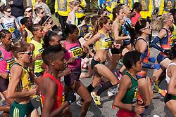 2013 Boston Marathon: elite women start race