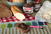 Nutella Chocolate spread on bread