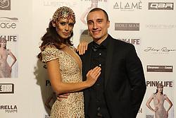 Napoli Presentation new issue of Pink Life magazine cover Raffaella Modugno and brother wearing a dress of the designer Bruno Caruso.