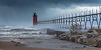 On Halloween 2014, gales out of the north pushed huge waves over South Haven's pier