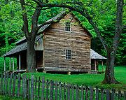 """The Tipton Place, built by """"Hamp"""" Tipton a few years after the Civil War, Cades Cove, Great Smoky Mountains National Park, Tennessee."""