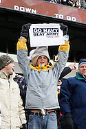 6 Dec 2008: A Navy fan holds up a sign during the Army / Navy game December 6th, 2008.  The Navy won 34-0 at Lincoln Financial Field in Philadelphia, Pennsylvania.