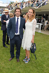 LAVINIA BRENNAN and HENRY BRETT at the Qatar Goodwood Festival - Ladies Day held at Goodwood Racecourse, West Sussex on 30th July 2015.