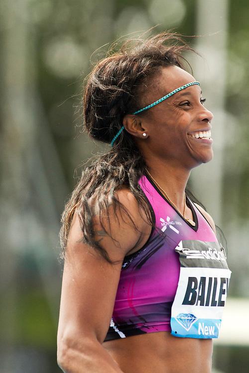 adidas Grand Prix professional track & field meet: womens 100 meters, Aleen BAILEY, Jamaica