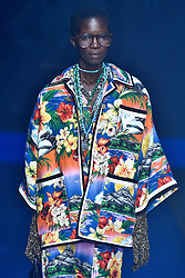Model Achok Majak walks on the runway during the Gucci Fashion Show during Milan Fashion Week Spring Summer 2018 held in Milan, Italy on September 20, 2017. (Photo by Jonas Gustavsson/Sipa USA)