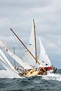 Abigail sailing in the Opera House Cup regatta.