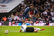 England (11) Tammy Abraham, Germany (5) Hummels during the Friendly match between England and Germany at Wembley Stadium, London, England on 10 November 2017. Photo by Sebastian Frej.