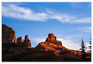 Very jagged peaks at the first light of dawn in Sedona Arizona, USA
