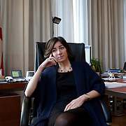 Milan, Italy, December 5, 2012. Ms Cristina Tajani, Member of the Town Committee of Milan for Employment Policies, Economic Development, University and Research.