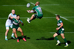 Tom Homer of London Irish wins the aerial ball  - Mandatory by-line: Ryan Hiscott/JMP - 13/09/2020 - RUGBY - Twickenham Stoop - London, England - London Irish v Worcester Warriors - Gallagher Premiership Rugby