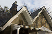 Torosay North Lodge, at the former entrance to Torosay Castle (now in private hands), Craignure, Isle of Mull, Scotland.