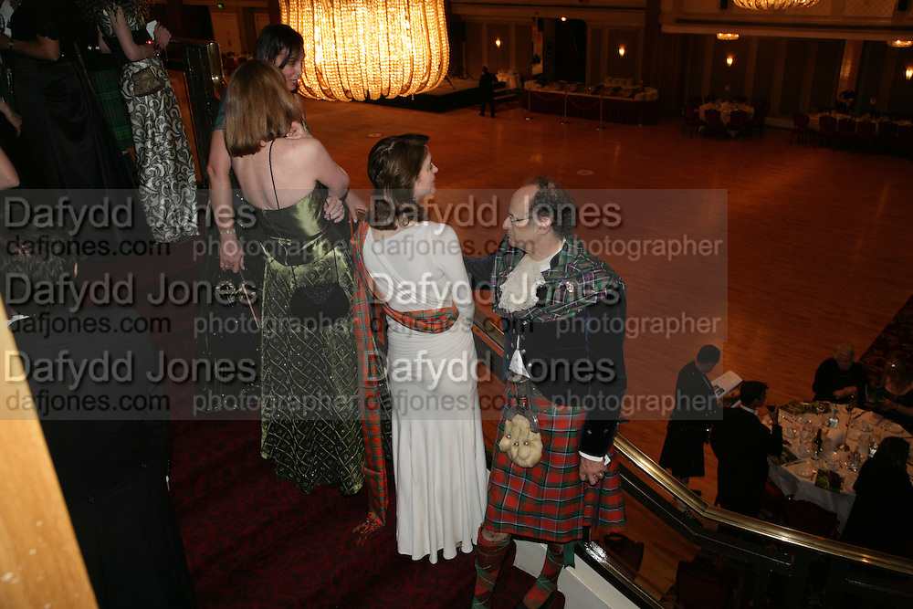 Claire Enders, Christopher Thompson  The Royal Caledonian Ball 2007. Grosvenor House. 4 May 2007.  -DO NOT ARCHIVE-© Copyright Photograph by Dafydd Jones. 248 Clapham Rd. London SW9 0PZ. Tel 0207 820 0771. www.dafjones.com.
