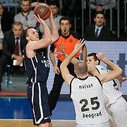 Anadolu Efes's Dusko SAVANOVIC (L) during their Turkish Airlines Euroleague Basketball Group C Game 6 match Anadolu Efes between Partizan at Sinan Erdem Arena in Istanbul, Turkey, Wednesday, November 23, 2011. Photo by TURKPIX