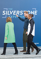 Prince Harry, Duke of Sussex and six-time Formula One World Champion Lewis Hamilton visit  the Silverstone Circuit in Towcester, England to officially open The Silverstone Experience, a new immersive museum that tells the story of the past, present and future of British motor racing, on March 6, 2020.