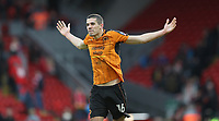 Football - 2016 / 2017 FA Cup - Fourth Round: Liverpool vs. Wolverhampton Wanderers<br /> <br /> Conor Coady of Wolverhampton Wanderers  celebrates after the match at Anfield.<br /> <br /> COLORSPORT/LYNNE CAMERON