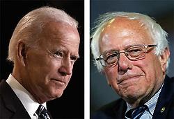 March 28, 2019 - Miami, FL, USA - El vicepresidente Joe Biden (izq.) y el senador Bernie Sanders (I-VT), lideran las encuestas en el competido campo demócrata con miras a las presidenciales de 2020 en EEUU. [File photos] (Credit Image: © File Photos/The Columbus Dispatch/TNS via ZUMA Wire)