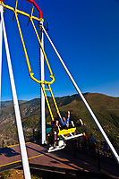 Giant Canyon Swing (1,300 feet above the Colorado River), Glenwood Caverns Adventure Park, Glenwood Springs, Colorado USA