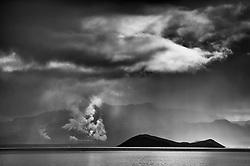The island Sandey at the lake Thingvallavatn, south Iceland - Sandey í þingvallavatni