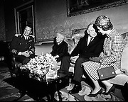 Belgian Royal Visit - King Baudouin and Queen Fabiola at a State Dinner at Áras an Uachtarain..14.05.1968
