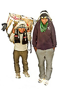 L to R, Bala Kjai and Mangal Bik, both 19 working as porters carrying loads to Everest Base Camp