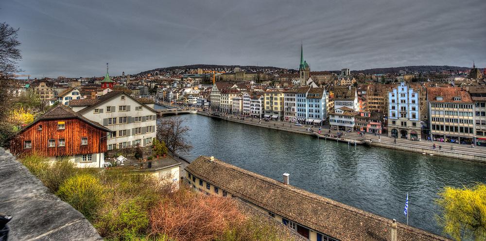 View from Lindenhof in Zürich