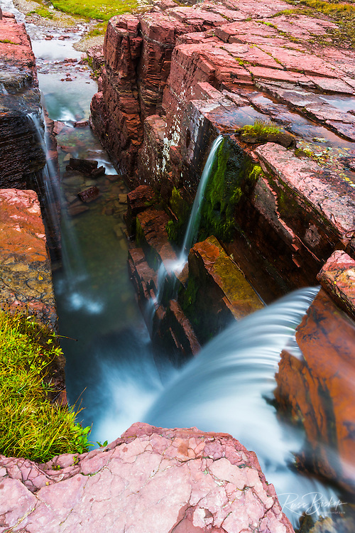 Triple Falls, Glacier National Park, Montana USA
