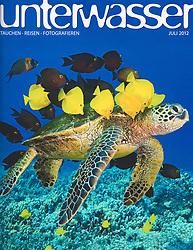 Unterwasser Magazine, July 2012, cover use, Germany, Image ID: Florida-Manatee-0013